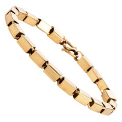 Vintage 22K Gold Elegant Box Chain Links Bracelet