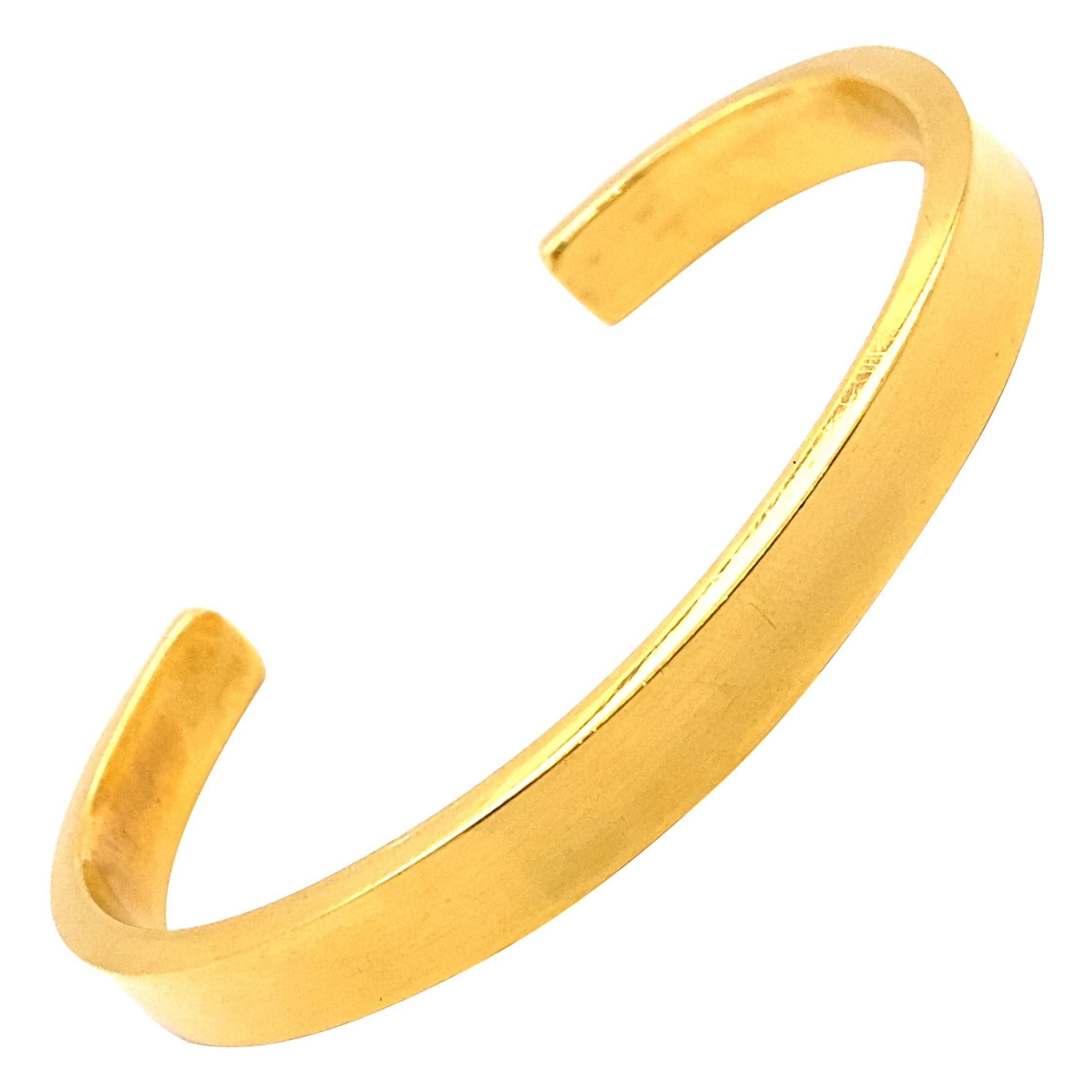 Vintage 22K Yellow Gold Cuff Bracelet