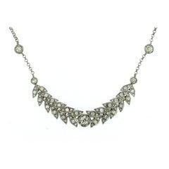 Vintage 2.50 Carat Diamond Gold Necklace