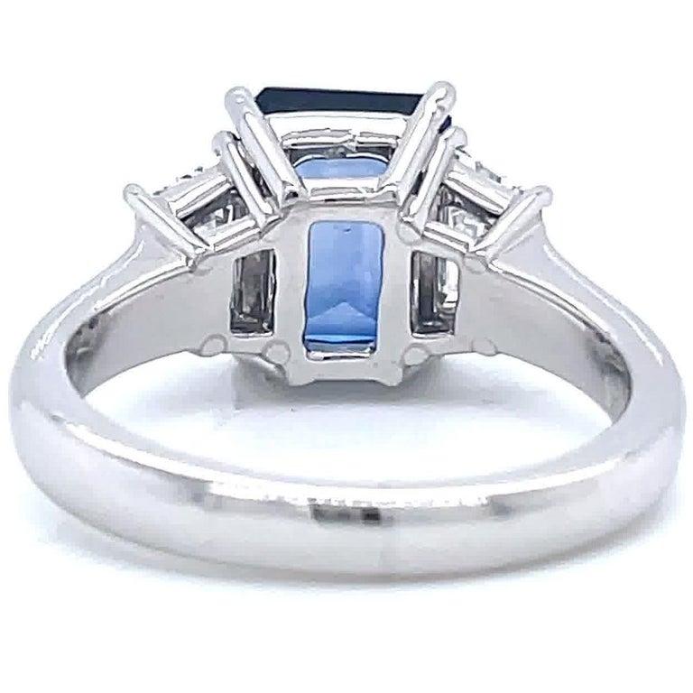 Women's Vintage 2.65 Carat Sapphire Diamond Platinum Ring