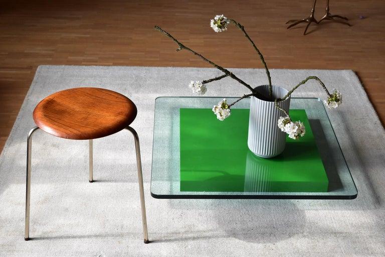 Vintage 3 Dot Stool in Teak and Metal Design Arne Jacobsen for Fritz Hansen For Sale 8