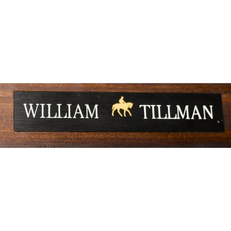 Vintage 3 Pillar Dining Table by William Tillman & 12 dining chairs 20th C For Sale 3