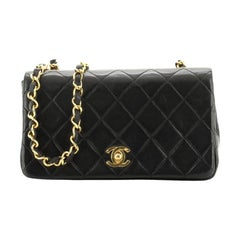 Vintage 3 Way Full Flap Bag Quilted Lambskin Mini