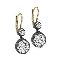 Vintage 3.93cttw Diamond Earrings