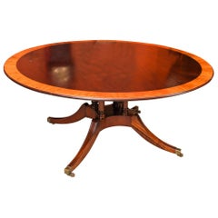 Vintage Round Mahogany Table by Millwood Cabinet Makers, 20th Century