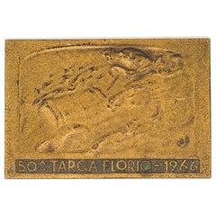 Vintage 50 Targa Florio Bronze Plate, 1966, Italy