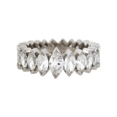 Vintage 5.00 Total Carat Marquise Diamond Eternity Band