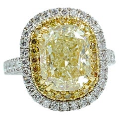 5.02 Carat Canary Diamond Ring