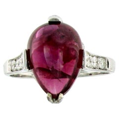 Vintage 5,89 Carat Natural Ruby Diamond Gold Ring
