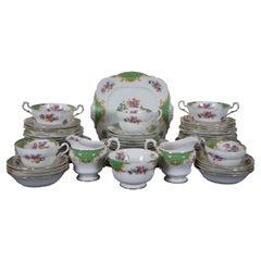 Vintage 61 Pc Paragon Rockingham Green Floral China Dinnerware Set England