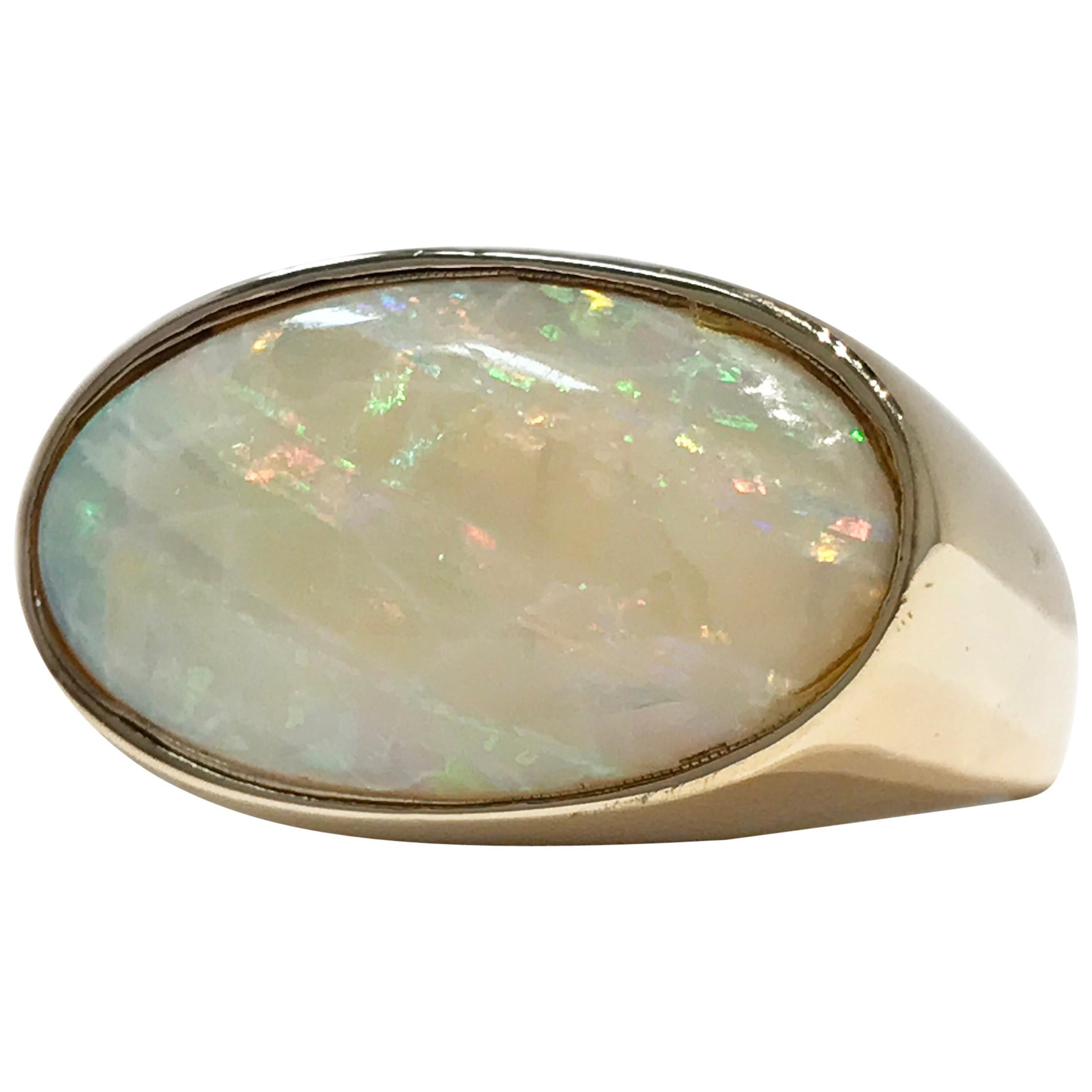 14 Karat Vintage Opal Ring, 6.46 Carat