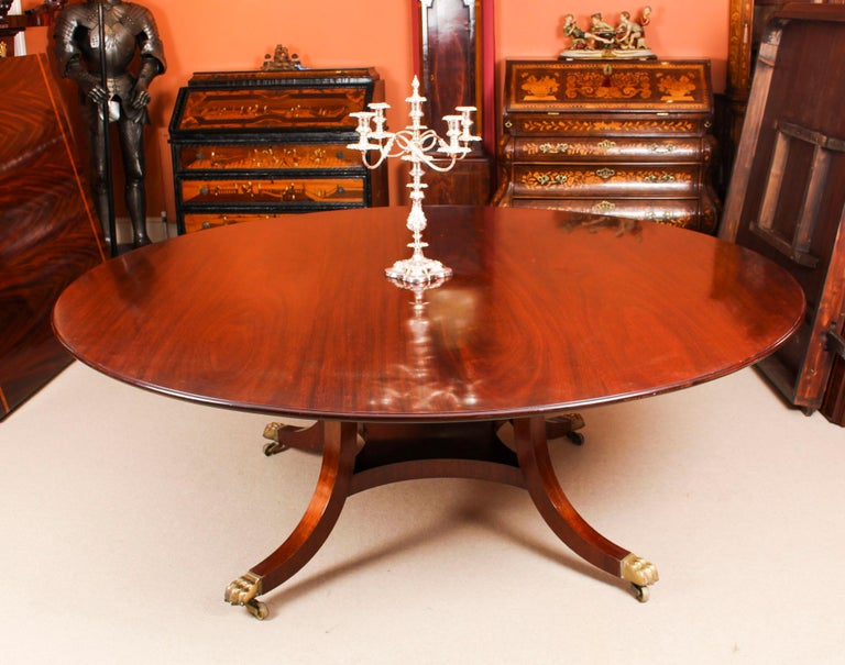 Vintage Round Table And 8 Bespoke Chairs William Tillman