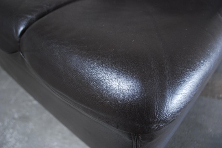 Vintage 1970s Design German Modul Brown Leather Sofa 9