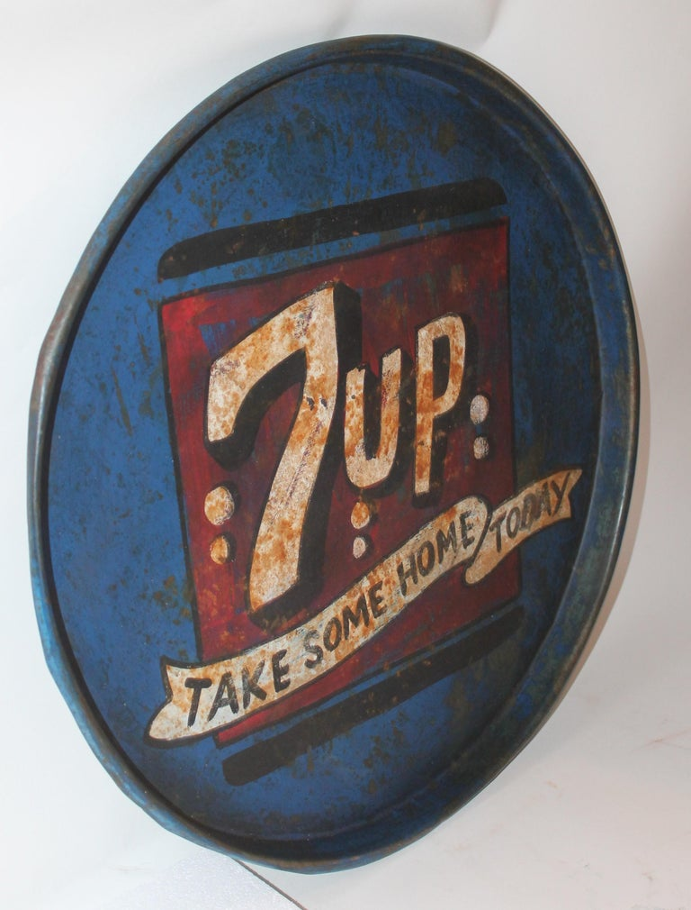 Country Vintage 7up Tray For Sale