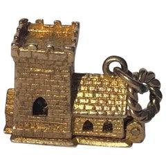 Vintage 9 Carat Chapel Charm Pendant