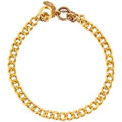 Vintage 9 Carat Curb Chain Bracelet
