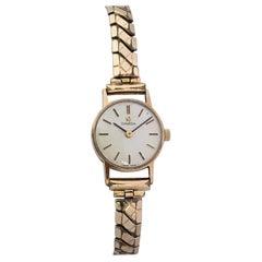 Vintage 9 Carat Gold 1960s Omega Ladies Mechanical Wristwatch