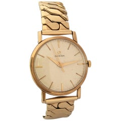 Vintage 9Carat Gold and Rolled Gold Bracelet 1960s Omega Mechanical Watch