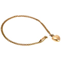Vintage 9 Carat Gold Heart Pendant