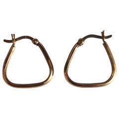 Vintage 9 Carat Gold Hoop Stud Earrings
