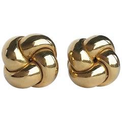 Vintage 9 Carat Gold Knot Stud Earring