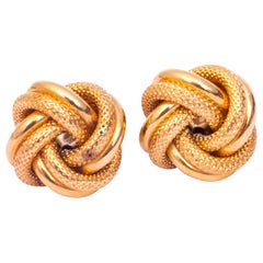 Vintage 9 Carat Gold Knot Stud Earrings