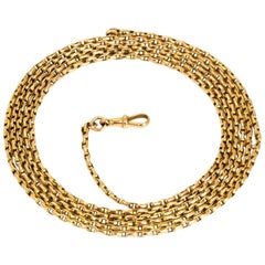 Vintage 9 Carat Gold Longuard Chain Necklace