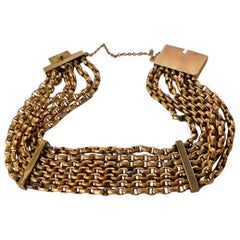Vintage 9 Carat Gold Multi-Strand Bracelet