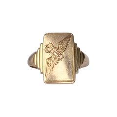 Vintage 9 Carat Gold RAF Signet Ring