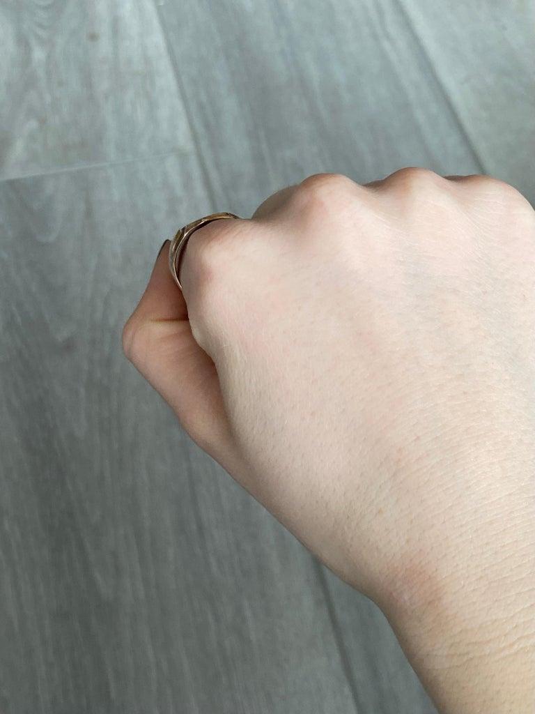 Vintage 9 Carat Gold Signet Ring For Sale 1