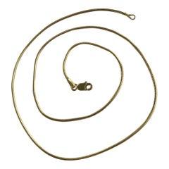 Vintage 9 Carat Gold Snake Link Necklace