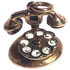 Vintage 9 Carat Gold Telephone Love Charm