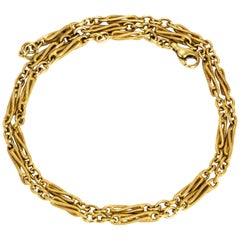 Vintage 9 Carat Gold Twist Chain Necklace