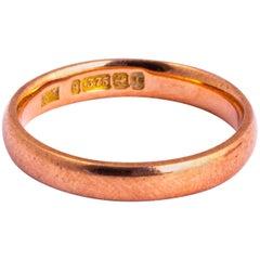 Vintage 9 Carat Rose Gold Band