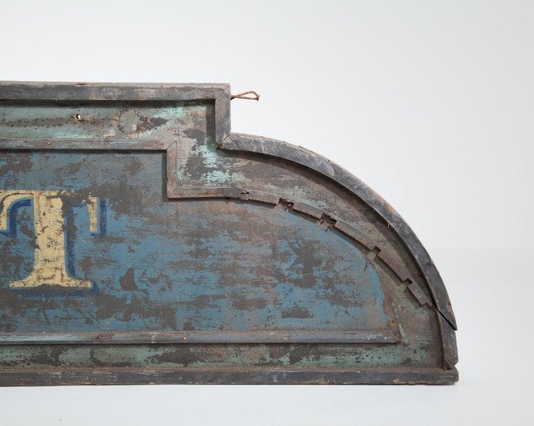 Vintage 9-Foot Wooden English Shop Sign For Sale 1