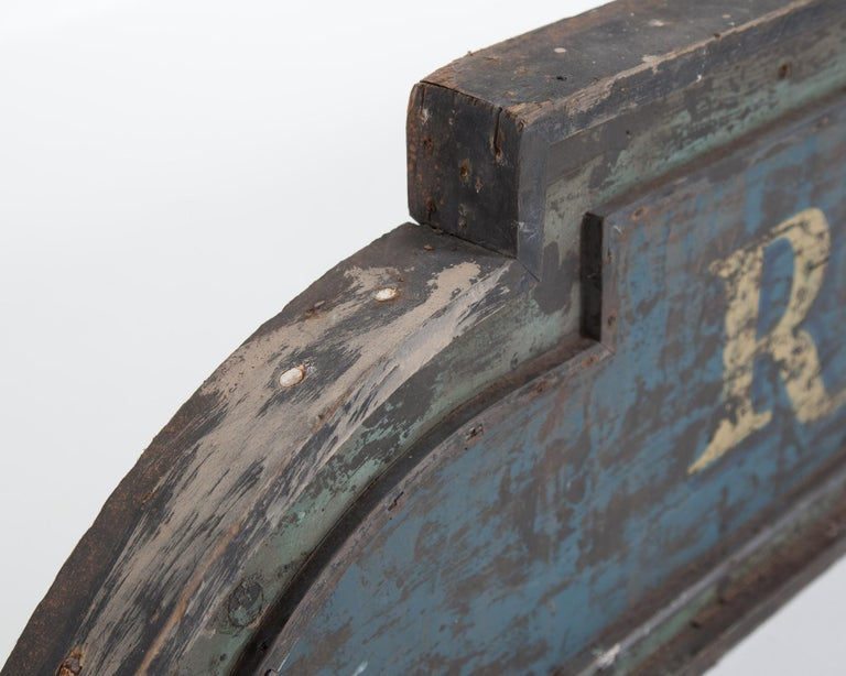 Vintage 9-Foot Wooden English Shop Sign For Sale 2