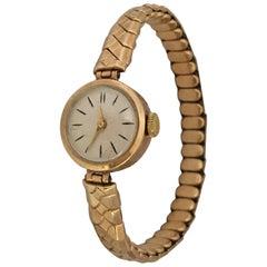 Vintage 9 Karat Gold and Rolled Gold Strap Ladies Mechanical Watch
