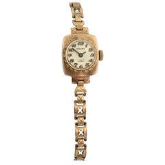 Vintage 9 Karat Gold Swiss Mechanical Ladies Watch