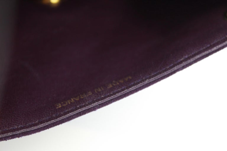 302729b76b9641 Vintage 90's Chanel Timeless Purple Suede Bag For Sale at 1stdibs