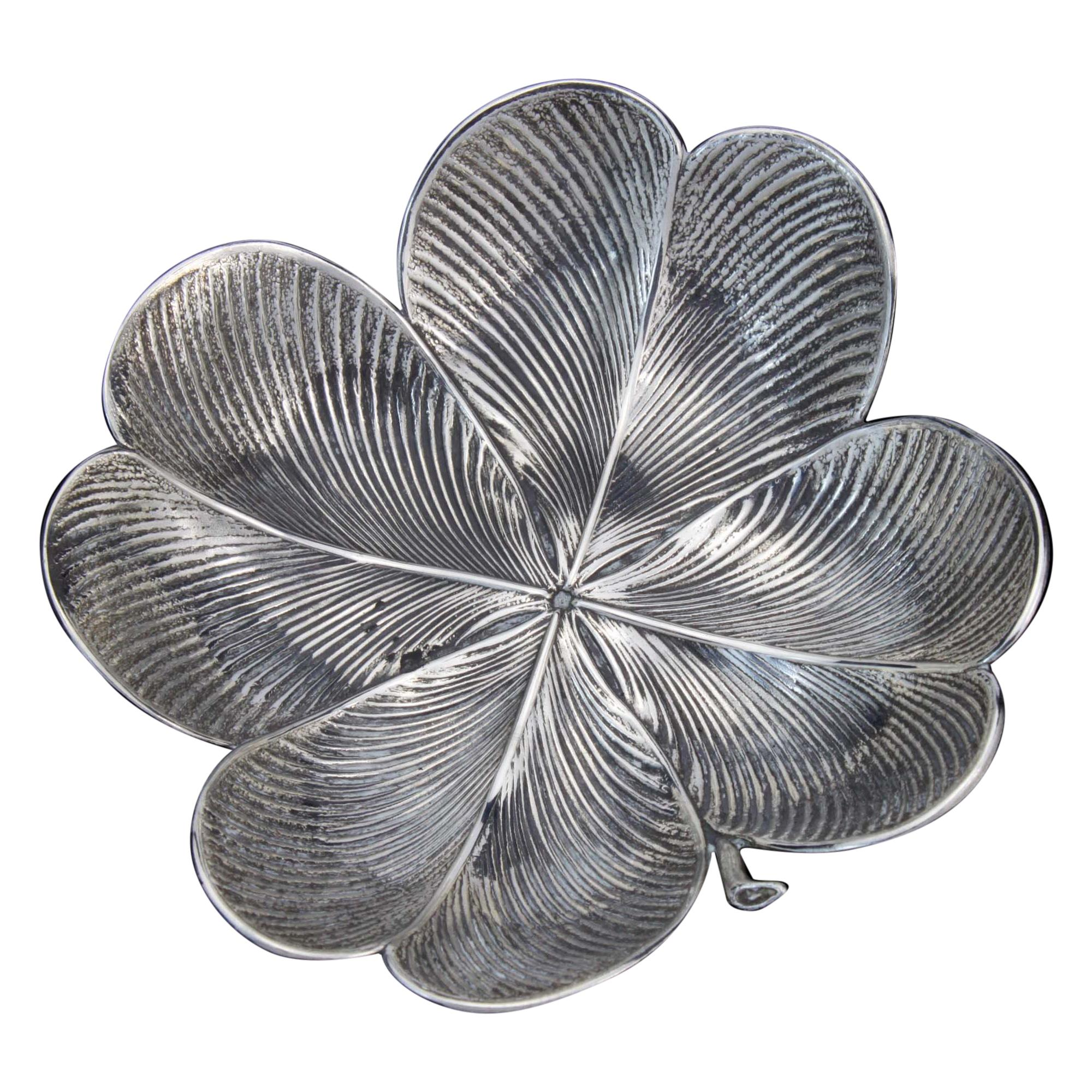 Vintage 925 Silver Clover Dish by Gianmaria Buccellati