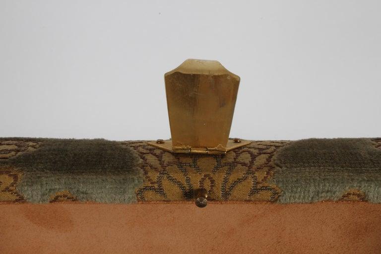 Vintage A. Antinori Roma Italy Jacquard Velvet Jewelry Box Casket Storage Chest For Sale 4