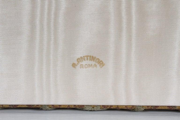 Vintage A. Antinori Roma Italy Jacquard Velvet Jewelry Box Casket Storage Chest For Sale 9