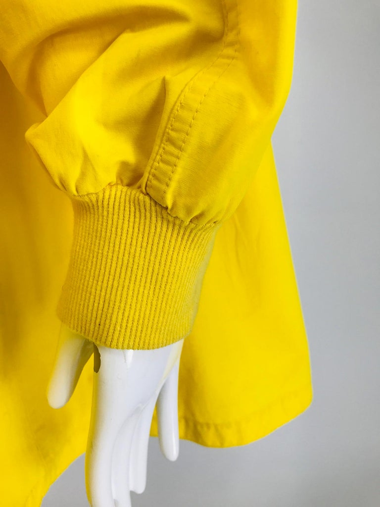 Vintage A Line Anne Klein Bright Yellow A Line Zip Front Jacket with Hood  For Sale 10