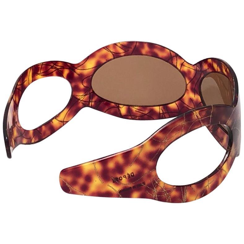 "Vintage A. Paulette "" Headband  "" Tortoise Mask Sunglasses 1960 Made in France"