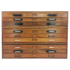 Vintage Abbess Plan Chest of Drawers Artists Map Table