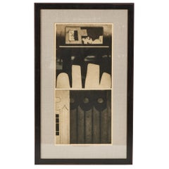 Vintage Abstract 'Architectural' Etching