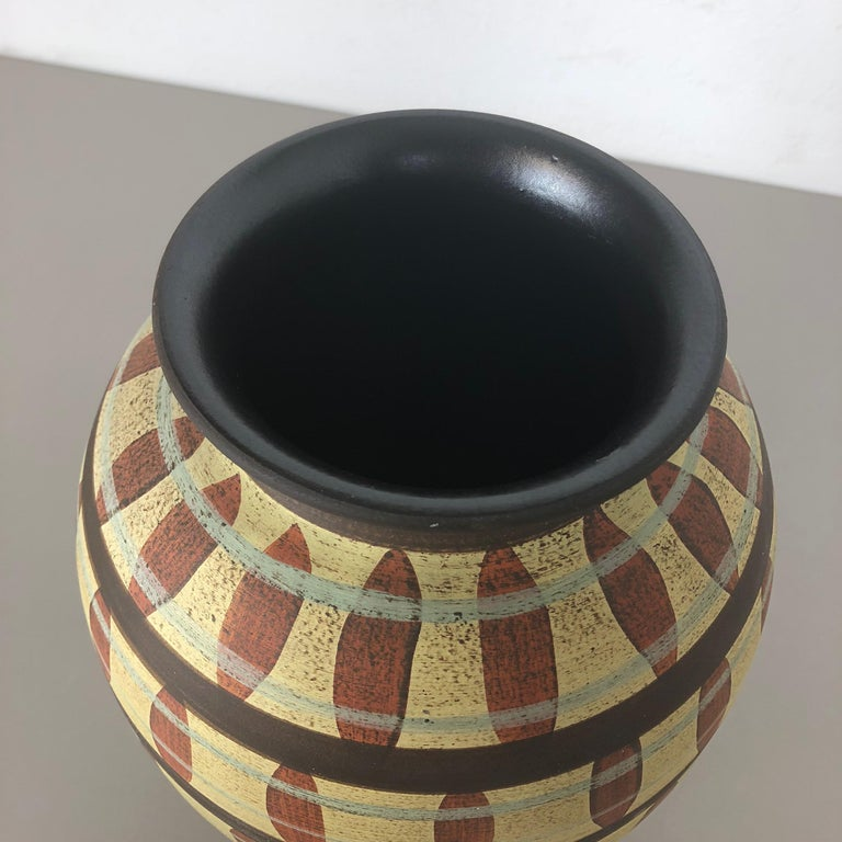 Vintage Abstract Ceramic Pottery Vase by Simon Peter Gerz, Germany, 1950s For Sale 5