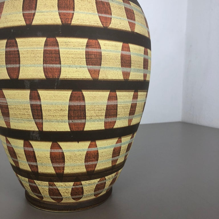 Vintage Abstract Ceramic Pottery Vase by Simon Peter Gerz, Germany, 1950s For Sale 7