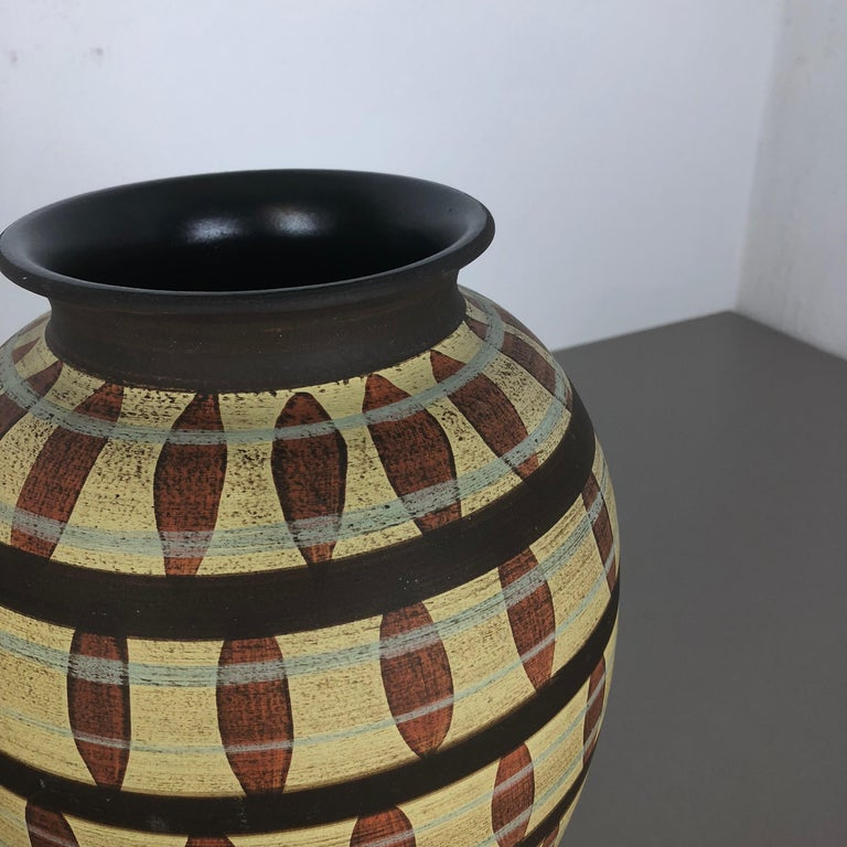 Vintage Abstract Ceramic Pottery Vase by Simon Peter Gerz, Germany, 1950s For Sale 8