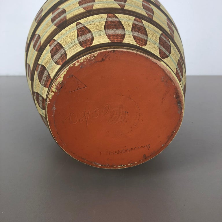 Vintage Abstract Ceramic Pottery Vase by Simon Peter Gerz, Germany, 1950s For Sale 11
